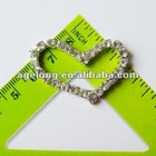 heart rhinestone buckle slider