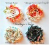 Vintage Chiffon Flower Shabby Trim