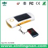 Solar charge flashlight with radio