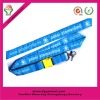 2012 custom design woven neck lanyard with J hook (factory)