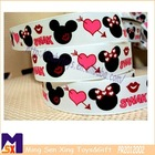 attractive mickey mouse heart customized printed ribbon