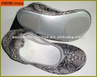 snake skin pattern PU fold up ballet shoes