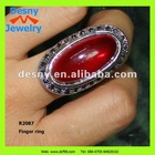 fashionable fancy cheap indian artificial big ruby finger rings