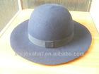 100% wool felt kids navy hats with knot