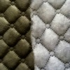 Solid dyed 100% polyester micro Warp Knitted Suede ULTRASONIC QUILTING Non woven fabric