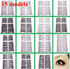 FALSE EYELASHES 15 MODLE EYE MAKE UP BLACK THICK LONG NATURAL SOFT HAND MADE
