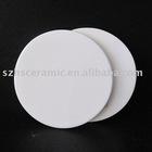 white porcelain round coaster