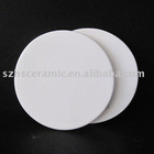 white porcelain round coaster
