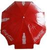 pvc beach umbrella for coca cola