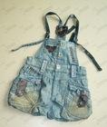 Children's denim overall--FS-TQ012# vintage blue