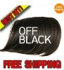 Off Black Hair Bangs CLIP ON BANGS SIDE LONG 5colors