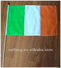 "Ireland flag on wood stick 12""x18"""
