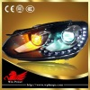12V Performance Volkswagen Golf 6 Headlights bifocal lens with DRL function