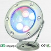 2012 DC24V/110-220V stainless steel fountain RGB led light waterproof6X1W OD120mm 600Im