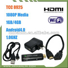 Android 4.0 Telechips8925 Cortex A5 1GB/4GB wifi hdmi