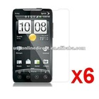 6X Clear LCD Screen Protector Shield for HTC EVO 4 4G Sprint A9292