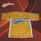 100% polyester button down baseball sporting shirt