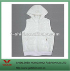 fashion casual wear white color vest no sleeves
