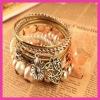 Alloy Multi-storey bracelet,alloy heart bracelets,bracelet sets,Retro bracelet(10pcs)