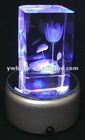 3D laser crystal, home decoration, LED light base for crystal