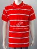 men's S/S engineering stripe polo shirt