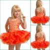 JF0092 Crystals Decoration Orange Little Girl Hot Sale Pageant Girl Dresses
