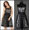 N090 Free shipping 2012 red carpet lace celebrity prom dress