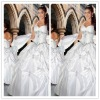 Affordable Sexy Halter Prom Gown Ball-Gown Chapel taffeta Beaded Pleated Quinceanera Wedding Dresses