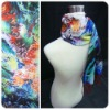 Blue Sea silk digital printed scarves wholesale