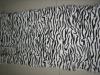 zebra print kid goat plate