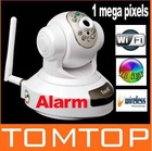 EasyN Wireless WiFi IR Cut IP Camera HD 1MP CMOS Security CCTV Camera Alarm PT