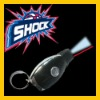 Shock Keychain car key with led light and laser pointer