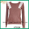 2012 Lace crocheted long sleeves ladies cardigan sweater KTS02#