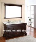 America modern bathroom vanity 3092E,with double undermounting ceramic basin.