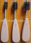 Plumbing fitting brush heavy duty w/double spiral