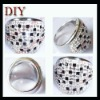 Stainless steel women rings with CZ crystal