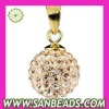 New Design Charming Gold Plated Silver Crystal Pendant