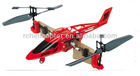T008 Multi-function fish hawk stunt (180 Degree rotation) Remote Control aircraft, RC Helicopter with gyroscope Red