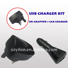portable and hot USB Charger Kit for mobile phone