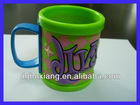 emboss logo rubber mug / OEM pvc mug / plastic rubebr mug