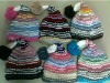 Wholesale 2012 New Arrived Hot Sale Fashion Thick Warm Cute Winter Knitted Hat with Ball Top