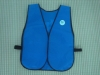 blue polyester supermarket promotion uniform vest