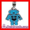 Zinc Alloy European Charms Robot Dangle For Bracelets Wholesale