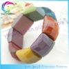 Gothic Punk Elastic Stretch Acrylic Bangle/Bracelet Cuffs 8 Colors