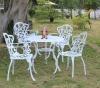 Cast aluminum outdoor dining table set, garden furniture