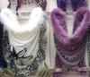 2012 latest Triangle scarf decorate with fur