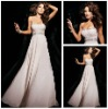 Top Quality Beaded Sweetheart A-Line Custom Made Chiffon Long Pom Dresses 2012 New Arrive