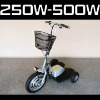 300W-500W 3 wheel electric scooter , Three wheel outdoor electric scooter