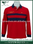 Red Long Sleeve 100% Cotton Men's T-Shirt