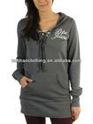 Women's fashion long length hoodies